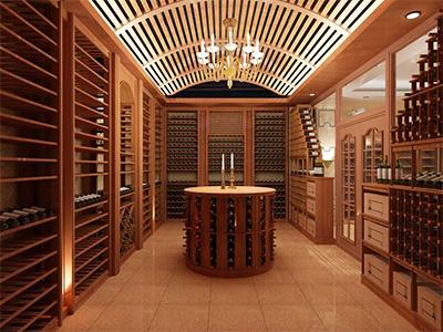 别墅实木酒柜