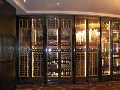 实木不锈钢酒柜